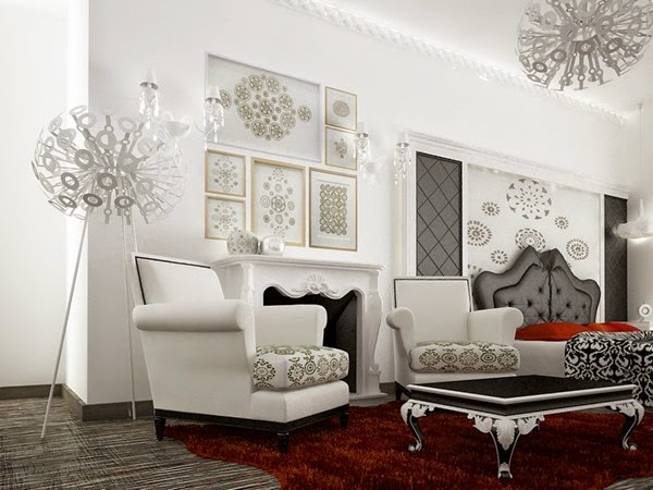 Muebles modernos para living idecorar - Paredes salones modernos ...