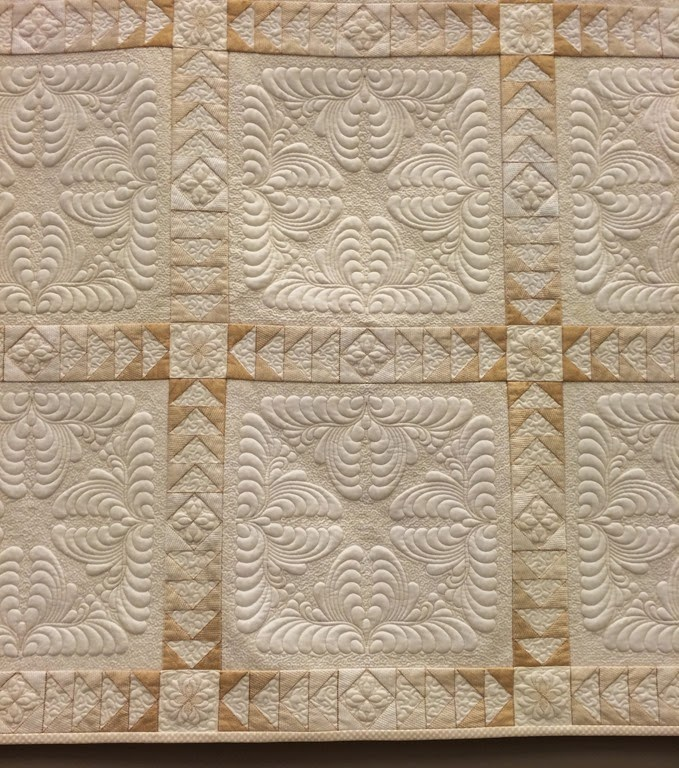 Details... Both the block and the sashing was digitized in 5D Design Creator.