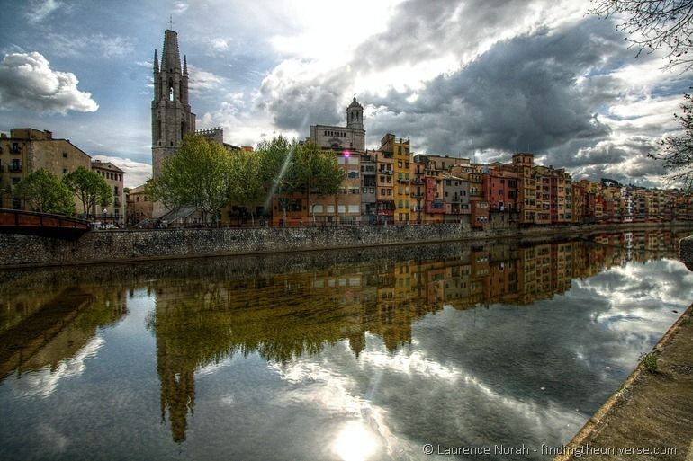 Girona houses river