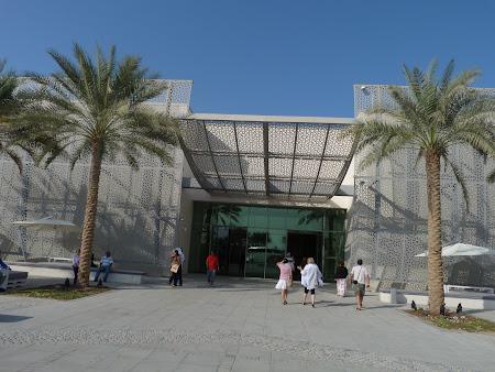 Obiective turistice Abu Dhabi: centru vizitatori insula Saadiyat
