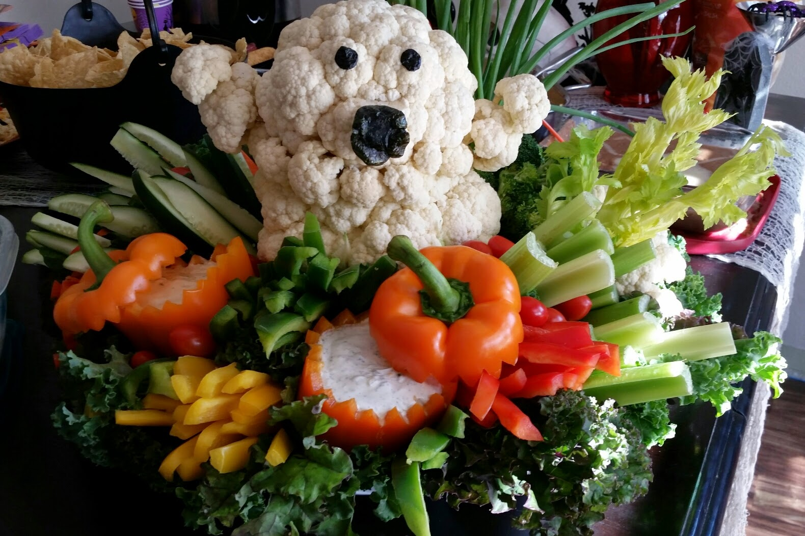 vegan mom blog therightonmomcom halloween ghost veggie platter
