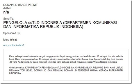 petisi online TLD ID