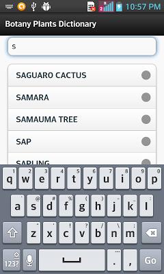 Botany Plants Dictionary - screenshot