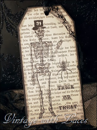 Halloween Skeleton Tag