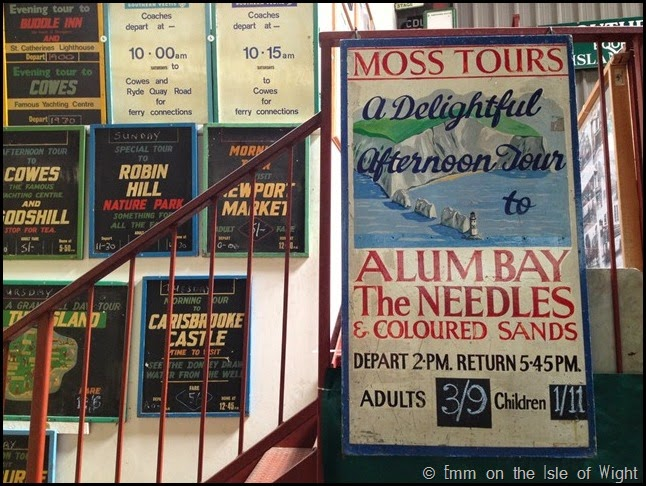Vintage signs at Isle of Wight Bus Museum