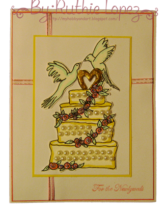 Lauretta's Digital Stamps - Wedding cake - CRAFT Challenges - GDT - Ruthie Lopez