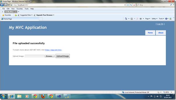 File Upload in ASP.NET MVC 3