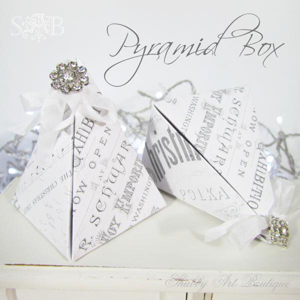 Shabby Art Boutique Pyramid Box 2