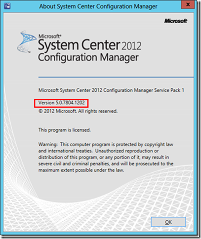 MINDCORE BLOG: Identify if SCCM 2012 SP1 CU2 has been installed