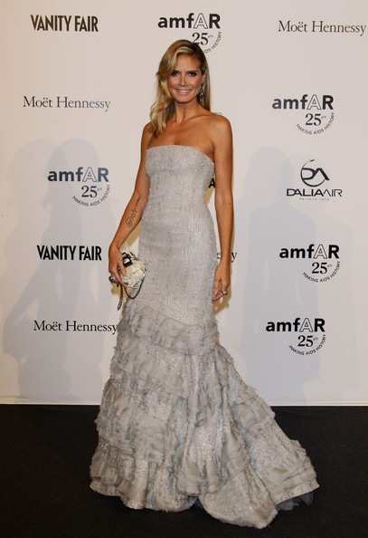Heidi Klum amfAR MILANO 2011 Red Carpet