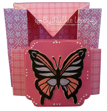 Butterfly - shadow box - box-card 4