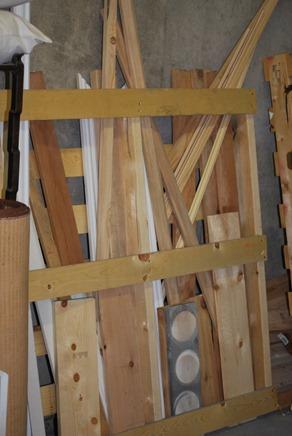 pallet as wood storage