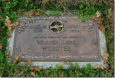 Debs Warren Webster Grave Marker