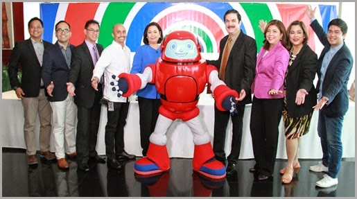 ABS-CBN Corporation and CBN Asia executives with Gizmo