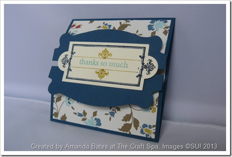 Amanda Bates, The Craft Spa, Pop N Cuts die, Comfort Cafe, Double Z Fold Card