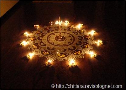 Karthika Pooja Tulsi Pooja Krishna Pooja Rangoli Chittara