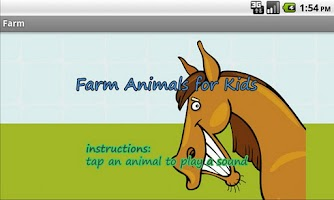 Screenshot of Farm Animals for Kids