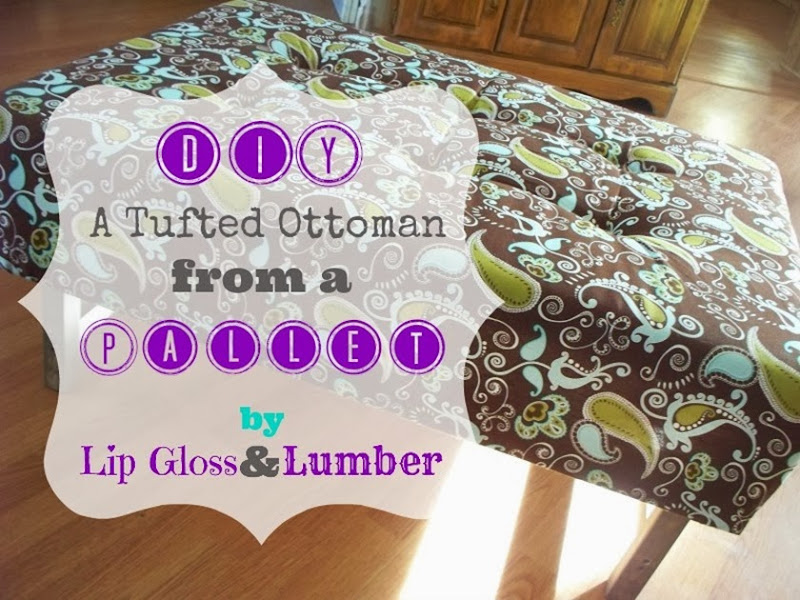 DIy a Tufted Ottoman from a Pallet by Lip Gloss and Lumber