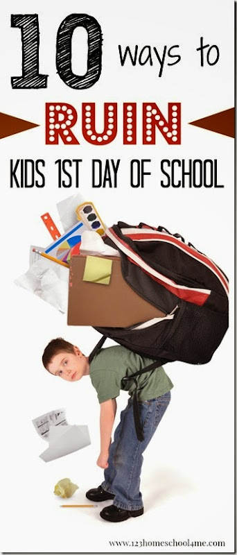 This is HILARIOUS!!!! ---->10 way sto ruin kids 1st day fo school