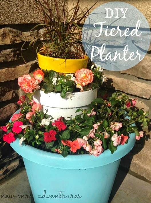 DIY Tiered Planter