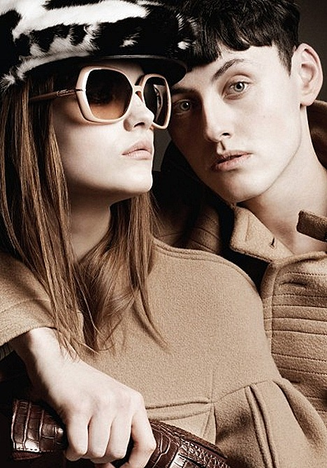 Burberry Nude Collection 2011 2012 Mens and Womens Eyewear TrenchCoat Beauty