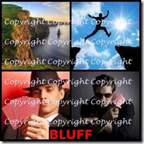 BLUFF- 4 Pics 1 Word Answers 3 Letters