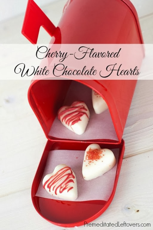 Cherry-Flavored-White-Chocolate-Hearts-Recipe
