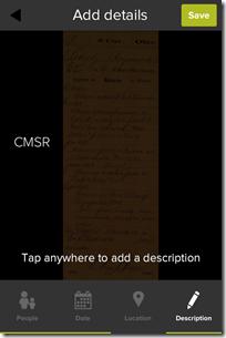 祖先鞋盒添加描述
