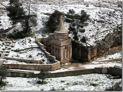 Pillar of Absalom with snow, tb022603216
