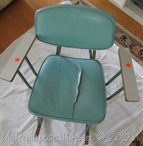 vintage metal rocking chair (2)