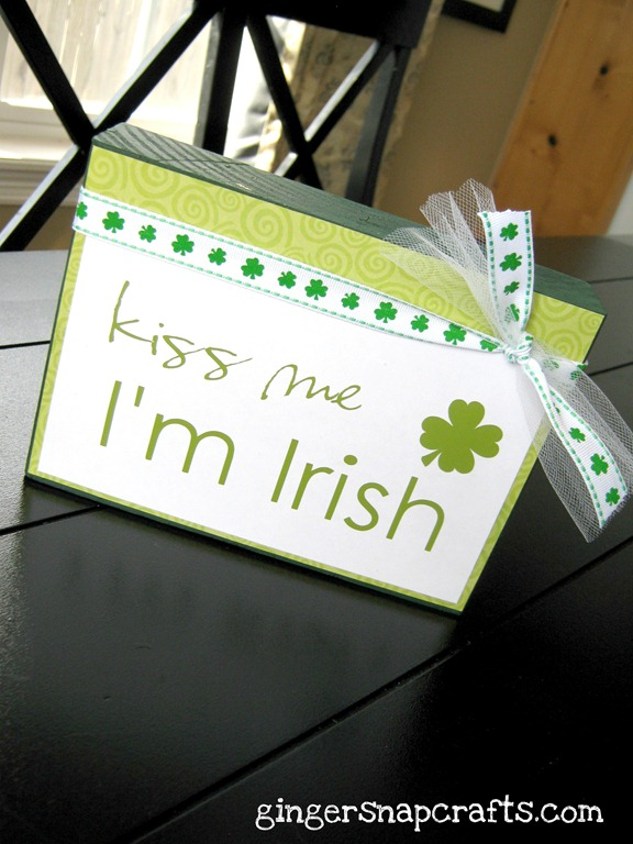 kiss me I'm irish block