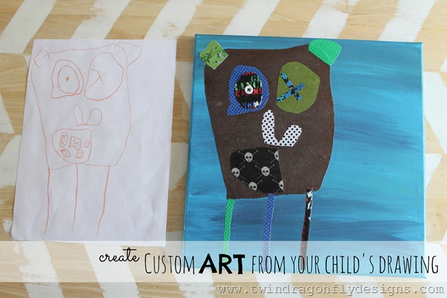 Custom Art from a child's drawing