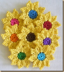 crochet yellow flowers