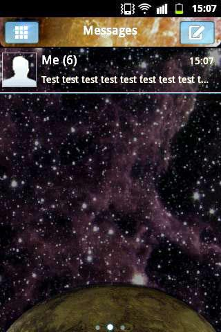のテーマギャラクシー GO SMS Theme Galaxy