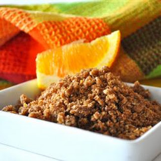 Orange Breakfast Crunch Topping
