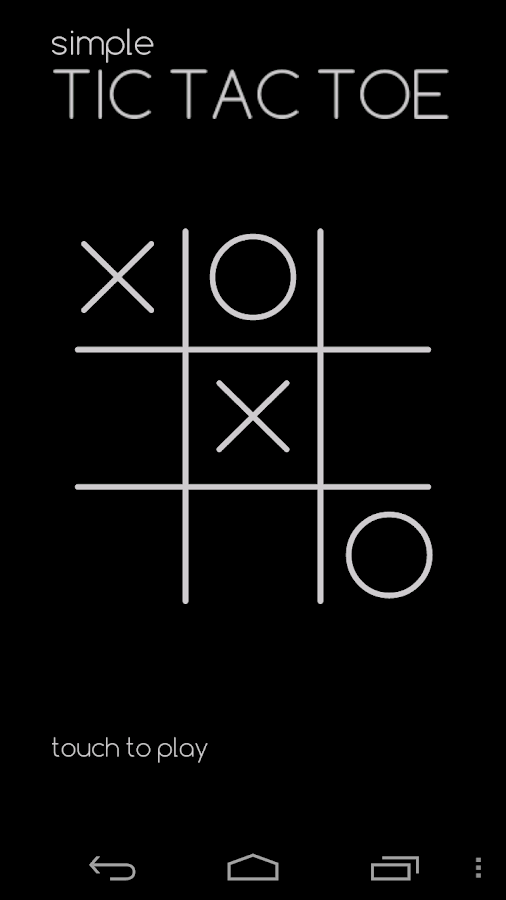 simple tic tac toe android apps on google play. Black Bedroom Furniture Sets. Home Design Ideas