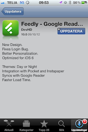 New Feedly for iOS