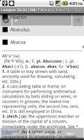 Screenshot of Webster Dictionary