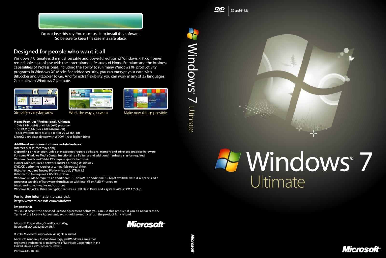 windows 7 ultimate 32bit product key free download