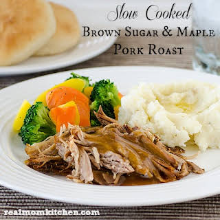 Slow Cooked Brown Sugar and Maple Pork Roast.