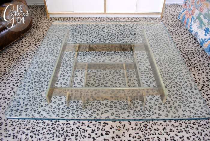 vintage brass stacked coffee table10