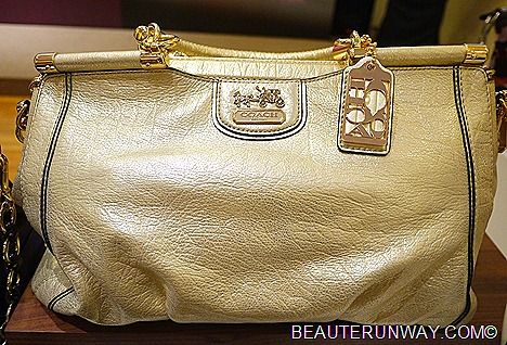Madison Caroline  Pearlised Gold Leather