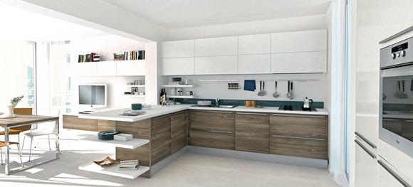 Cocinas abiertas y modernas en espacios grandes - iDecorar