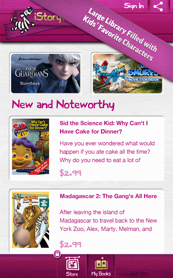 iStoryTime Storybook Library - screenshot