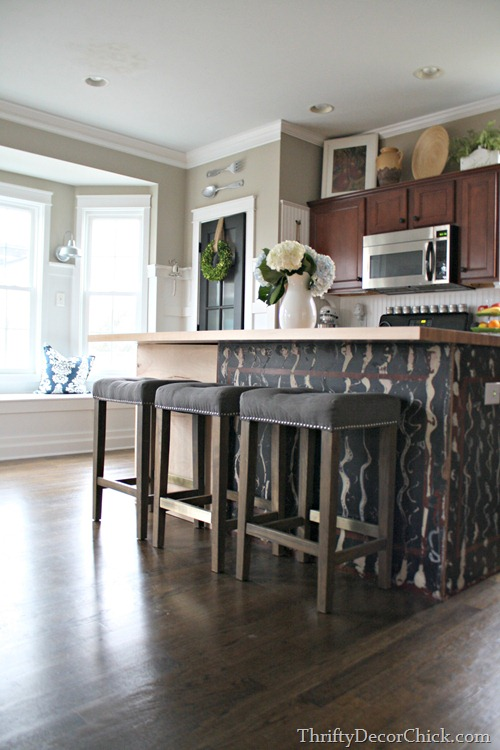 making kitchen island bigger