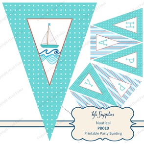 PB010 Nautical etsy 1 printable birthday party bunting 1