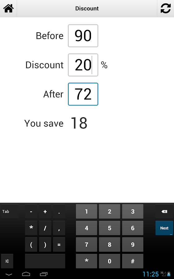 Percentage Calculator - screenshot