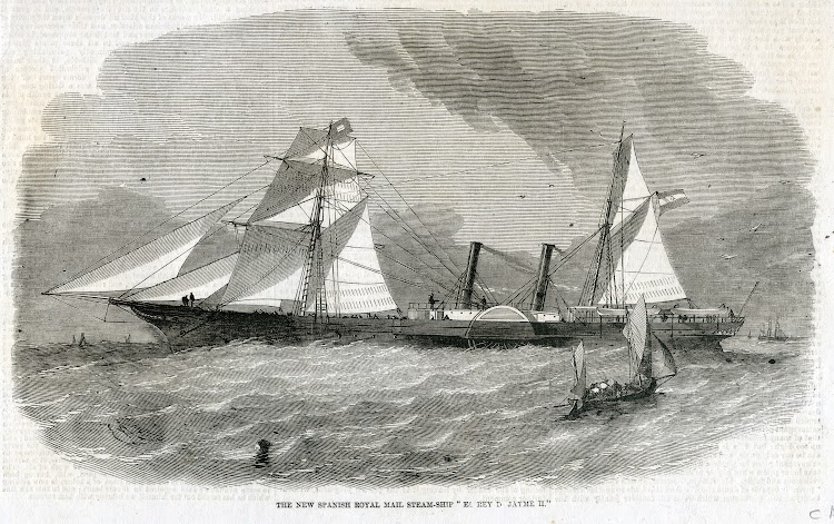 Grabado del vapor REY D. JAIME II. Illustrated London News. 1858. Fecha indeterminada.jpg