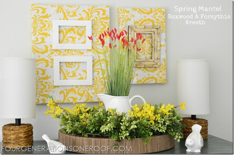 Spring mantel 2012 tagged