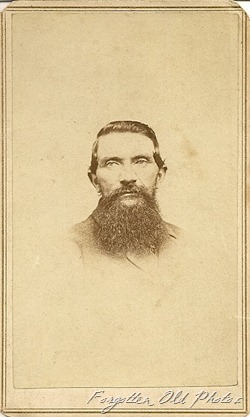 Man and beard CdV  Lawrence WFM